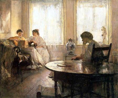 Edmund Charles Tarbell - Drei lesende Mädchen