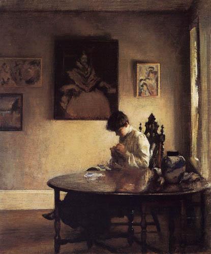 Edmund Charles Tarbell - Girl Crocheting