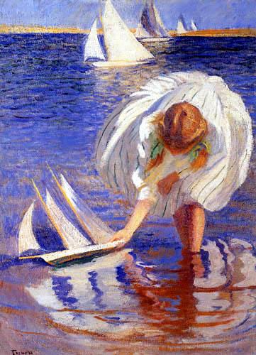 Edmund Charles Tarbell - Mädchen mit Segelschiffchen