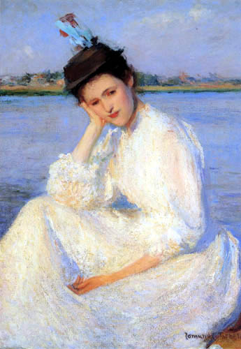 Edmund Charles Tarbell - Portait of a woman