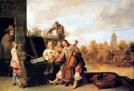 David Teniers le Jeune - Le peintre et Famille