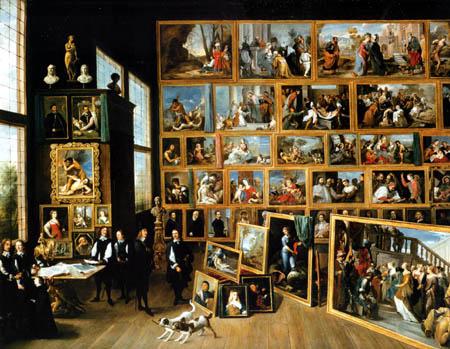 David Teniers le Jeune - Archiduc Leopold Wilhelm dans sa galerie