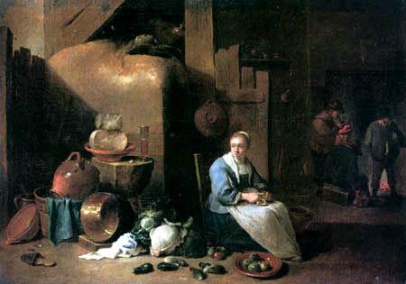 David Teniers le Jeune - Pièce de fermier flamande