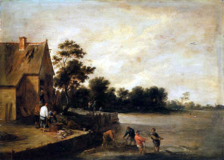 David Teniers the Younger - Foray in the shallow water
