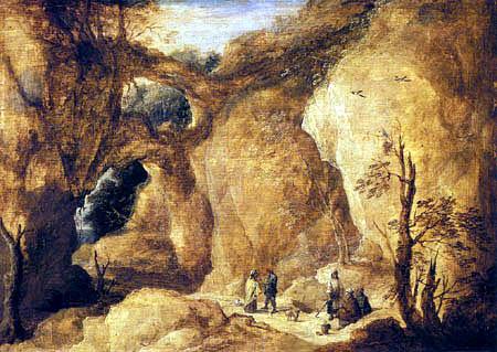 David Teniers the Younger - Zigeunerinnen in der Felsenschlucht