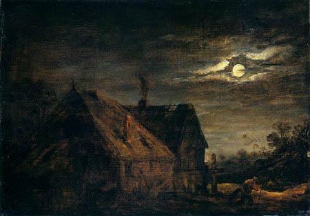 David Teniers the Younger - Moonshine landscape