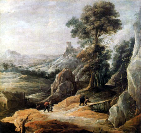 David Teniers le Jeune - Paysage rocheux