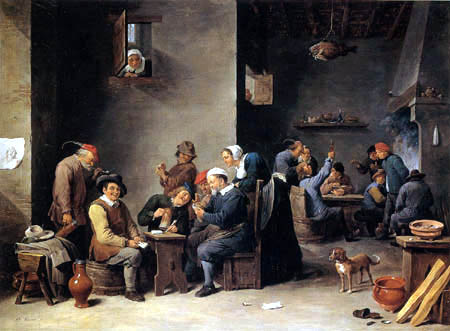David Teniers the Younger - Tavern scene