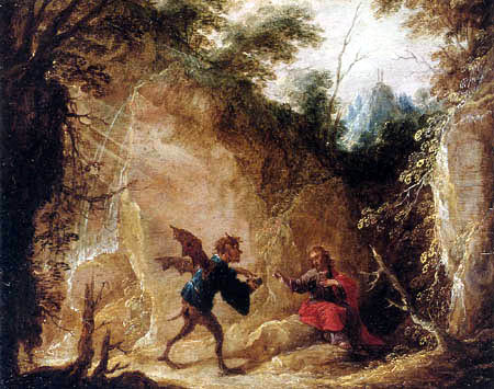 David Teniers the Younger - Temptation of Christ