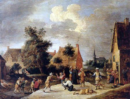 David Teniers le Jeune - Bandits attaquant une ville