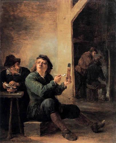 David Teniers le Jeune - Un intérieur de taverne avec un paysan