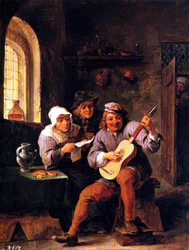 David Teniers the Younger - Peasants Making Music
