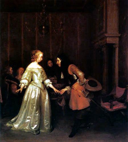 Gerard Terborch (Ter Borch) - Tanzendes Paar