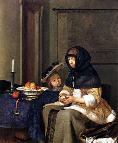 Gerard Terborch (Ter Borch) - A woman with apple