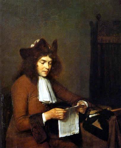 Gerard Terborch (Ter Borch) - Homme lisant une lettre