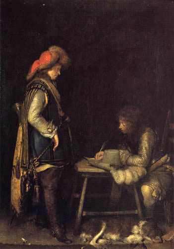 Gerard Terborch (Ter Borch) - Officer writing a letter