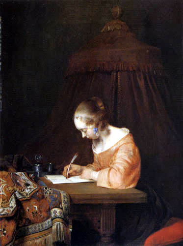 Gerard Terborch (Ter Borch) - Letter writer
