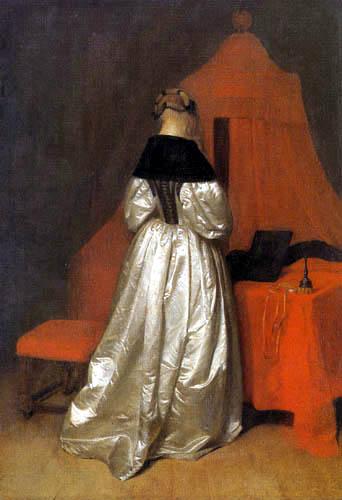 Gerard Terborch (Ter Borch) - Portrait de Madame