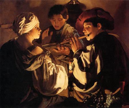 Hendrick Terbrugghen (Ter Brugghen) - Musizierende Gesellschaft