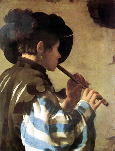 Hendrick Terbrugghen (Ter Brugghen) - Flute Player