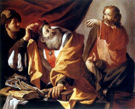 Hendrick Terbrugghen (Ter Brugghen) - The Appointment of Saint Matthew