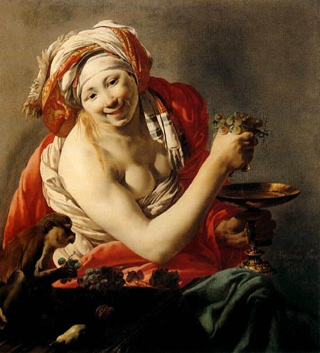 Hendrick Terbrugghen (Ter Brugghen) - The woman with the monkey
