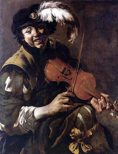 Hendrick Terbrugghen (Ter Brugghen) - Boy violinist
