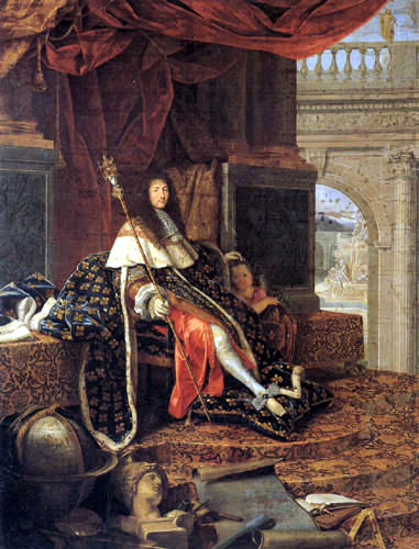 Henri Testelin - Portrait of Louis XIV, Protector of the Arts