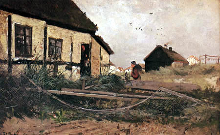 Frits (Johan Frederik) Thaulow - Fisher house in Skagen