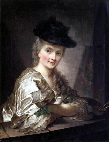 Anna Dorothea Therbusch - Liszewska (Lisiewski, Liesiewka) - Self portrait