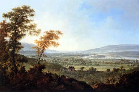 Johann Christian Alexander Thiele - Blick von den Lößnitzhöhen auf Dresden