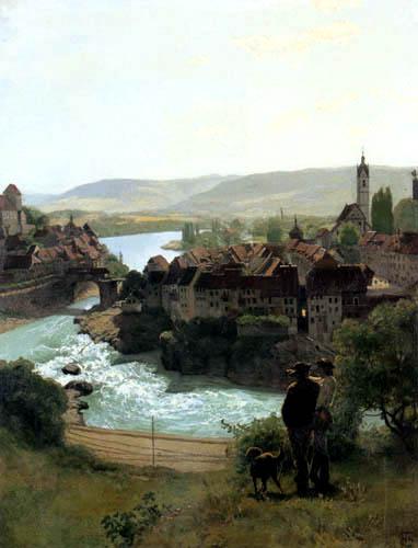 Hans Thoma - Der Rhein bei Laufenburg