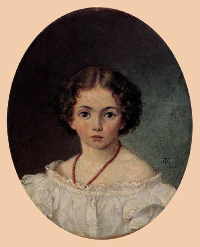 Hans Thoma - Mädchenporträt
