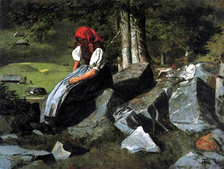 Hans Thoma - Farmers girl in Black Forest