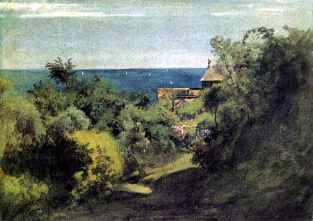Hans Thoma - Küste bei La Spezia