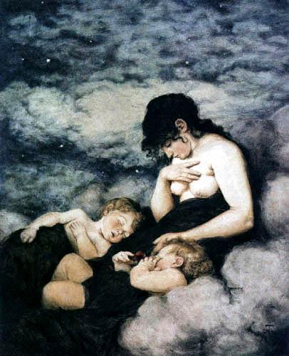 Hans Thoma - Die Nacht