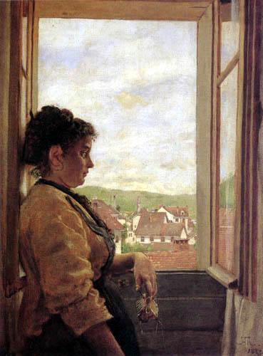 Hans Thoma - A la ventana