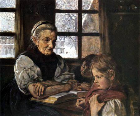 Hans Thoma - Im Winter