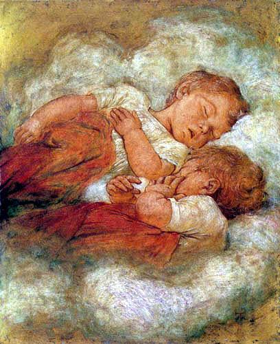 Hans Thoma - Schlafende Kinder