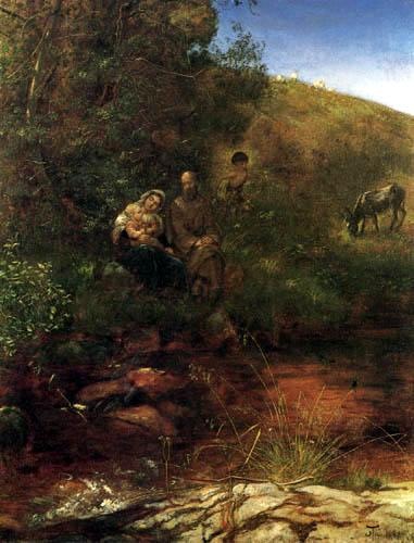 Hans Thoma - Ruhe auf der Flucht