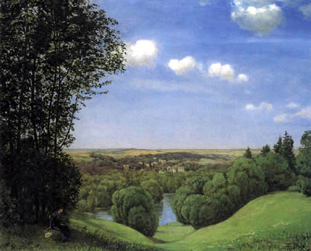Hans Thoma - Peaceful valley