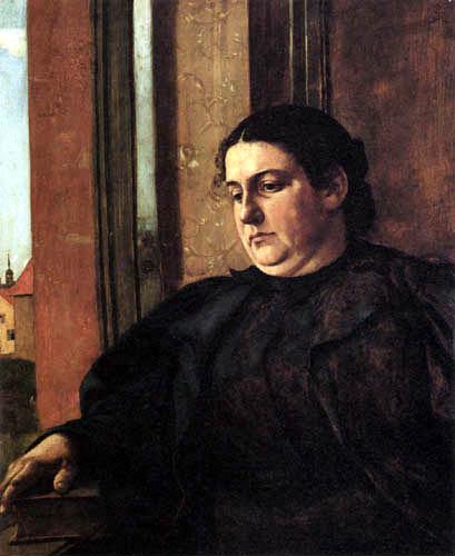 Hans Thoma - Cella Thoma am Fenster