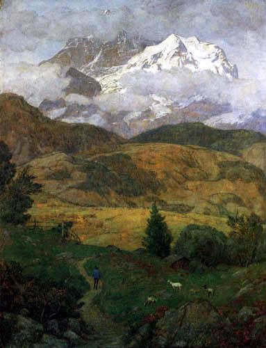 Hans Thoma - Das Silberhorn