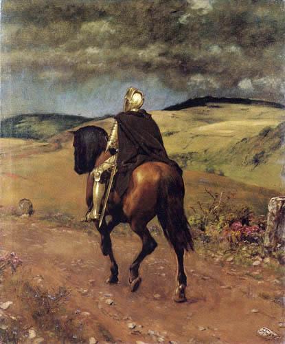Hans Thoma - Einsamer Ritt