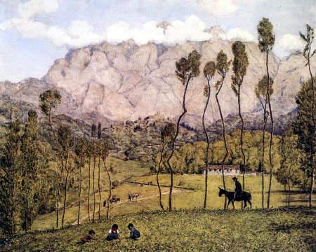 Hans Thoma - Landscape near Carrara