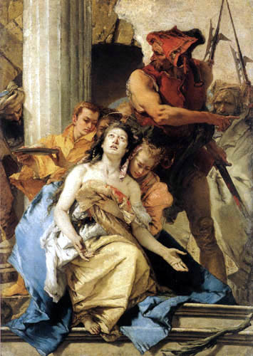 Giambattista (Giovanni Battista) Tiepolo - The Martyrdom of Saint Agatha