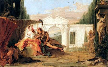 Giambattista (Giovanni Battista) Tiepolo - Rinaldo und Armida im Zaubergarten