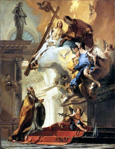 Giambattista (Giovanni Battista) Tiepolo - Verehrung der Dreifaltigkeit des hl. Papst Clemens