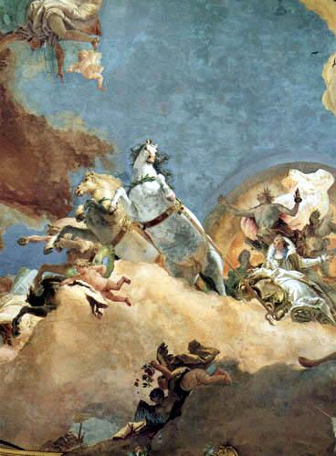 Giambattista (Giovanni Battista) Tiepolo - Beatrix von Burgund in Apoll´s Wagen, Detail