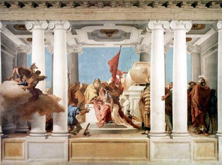 Giambattista (Giovanni Battista) Tiepolo - Die Opferung der Iphigenie